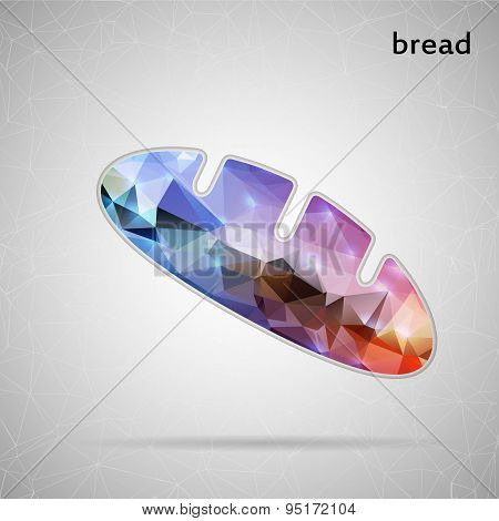 Abstract Creative concept vector icon of bread for Web and Mobile Applications isolated on backgroun