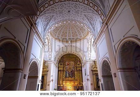 Convento De Santa Teresa Basilica Altar Dome Avila Castile Spain