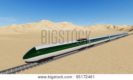 Modern high speed trains Vector
