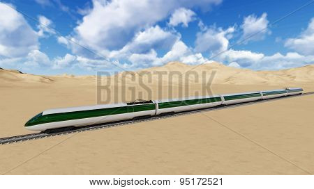 Modern high speed trains Vector image train 1