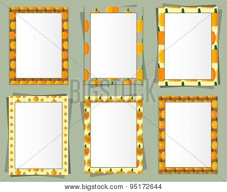 A4 and A3 Format paper design vector with text, picture frame and shadow. Organic and eco design. Pu