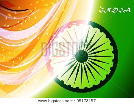 abstract flag of India