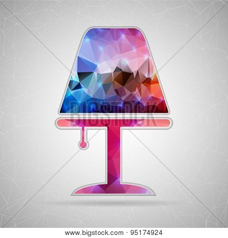 Abstract Creative concept vector icon of lamp for Web and Mobile Applications isolated on background