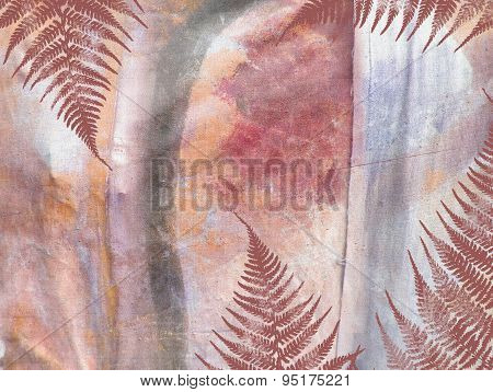 Tropical Jungle Floral Grunge Pattern