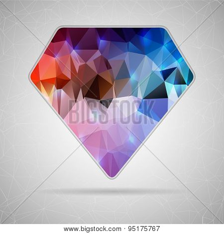 Abstract Creative concept vector icon of diamond for Web and Mobile Applications isolated on backgro