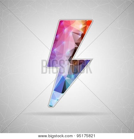 Abstract Creative concept vector icon of bolt for Web and Mobile Applications isolated on background