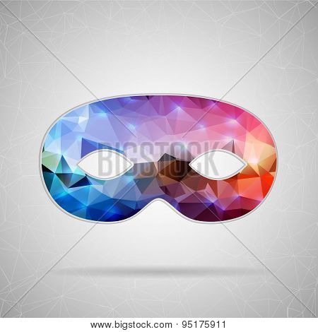 Abstract Creative concept vector icon of mask for Web and Mobile Applications isolated on background