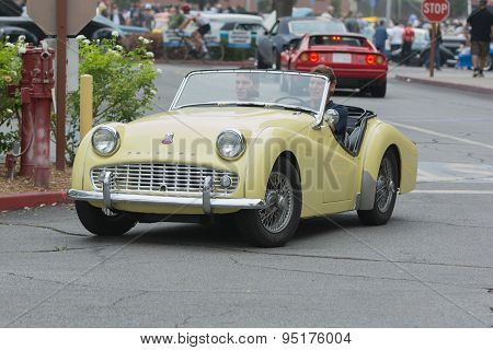 Triumph Tr3 Car On Display
