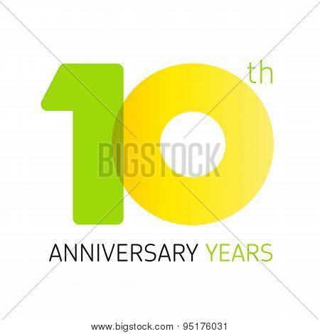 10 anniversary years logo