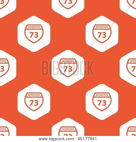 Orange hexagon Interstate 73 pattern