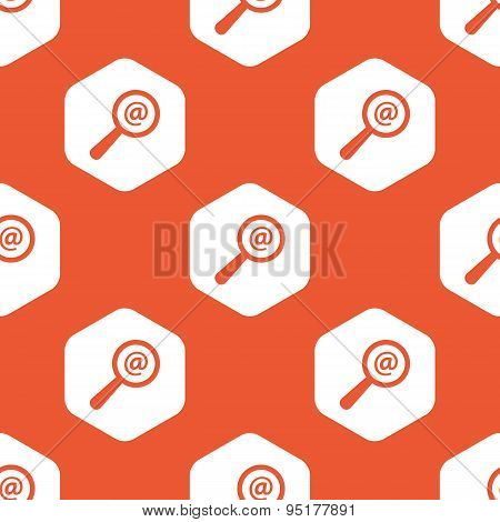 Orange hexagon mail search pattern