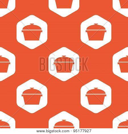 Orange hexagon pan pattern