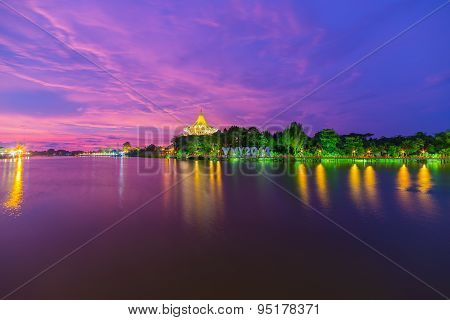 Breathtaking Sunset In Kuching, Malaysian Borneo