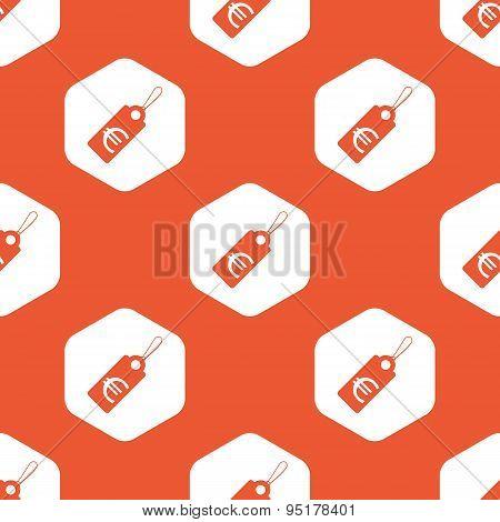 Orange hexagon euro price pattern