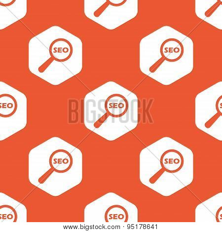 Orange hexagon SEO search pattern