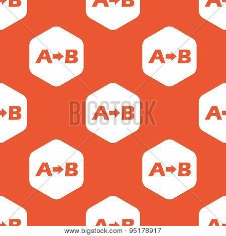 Orange A to B pattern
