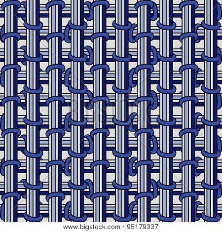 Elegance Blue Seamless Pattern.