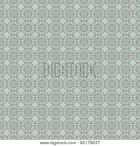 Seamless vintage polygon diamond check window tracery pattern background