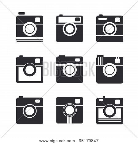 Camera Icons. Hipster Photo Camera Pictogram