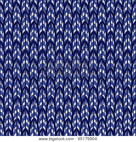 Abstract Blue Seamless Pattern.