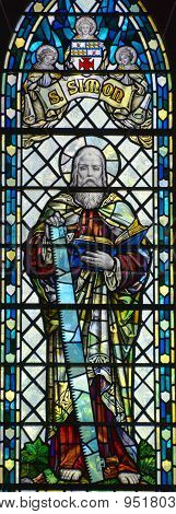 Stained glass window in Christ Church Cathedral