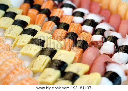 Sushi Rolls Traditional Japanese Food