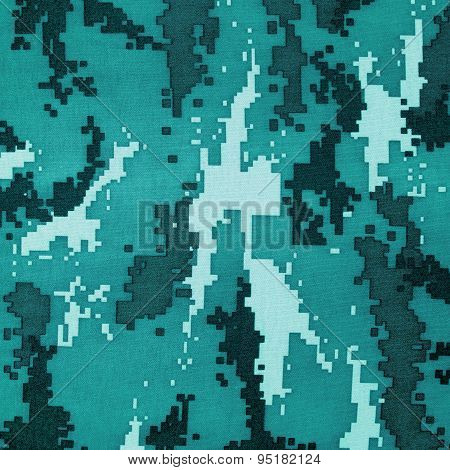 Exotic Color Digital Camouflage As Background Or Pattern