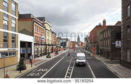 Central streets of Dublin.