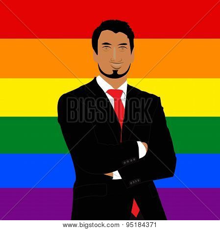 Gay, man, flag