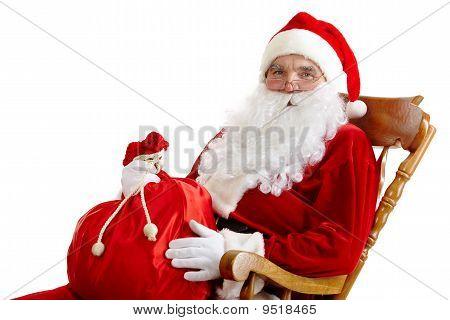 Santa con un saco
