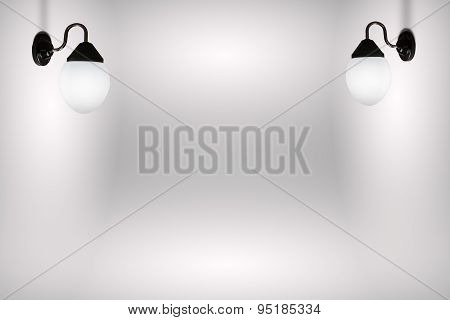 Lamp In White