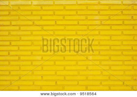 Wall Of Yellow Slim Bricks