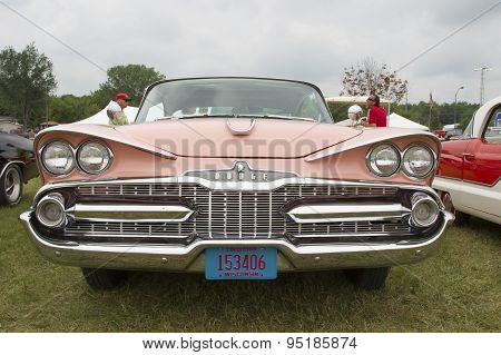 1959 Pink Dodge Coronet Car Front View