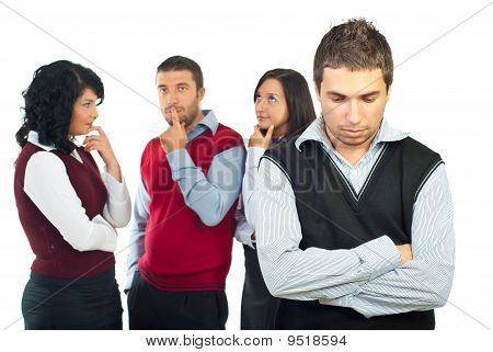 Businesspeople Thinking About Solutions