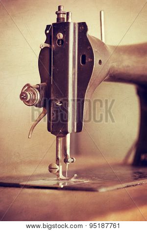 Vintage Sewing Machine Closeup