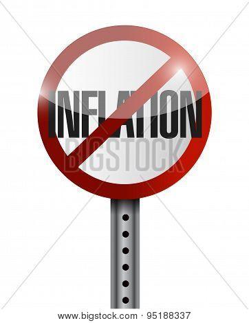 Inflation Road Sign Concept Illustration
