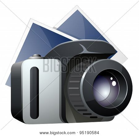 SLR camera with photo sheets