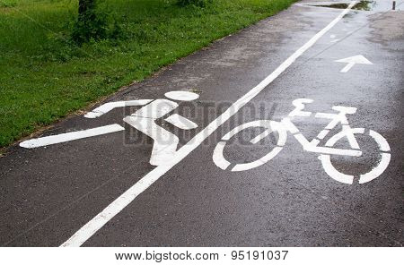 Cycle And Pedestrian Path