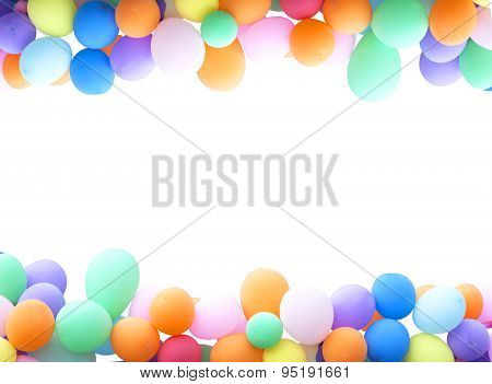 Background Colorful Balloons