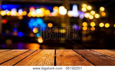 Blurred Bokeh Background With Warm Orange Lights (blurred)