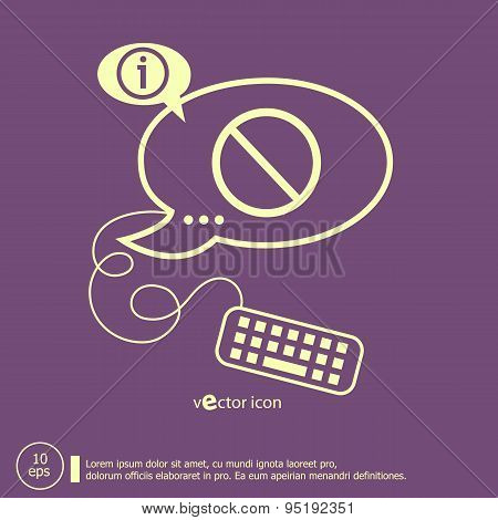 Sign Ban And Keyboard Design Elements