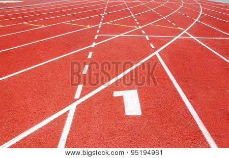 Start Track. Lanes 1 Number One.
