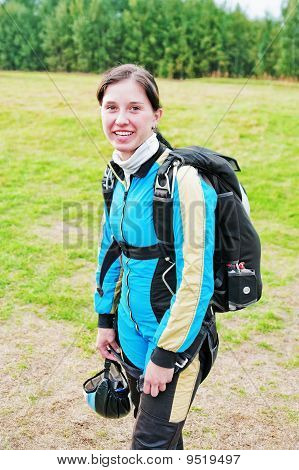 Portrait Of The Smiling Parachutist