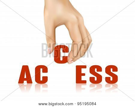 Access Word Taken Away By Hand