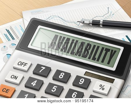 Calculator With The Word Availability