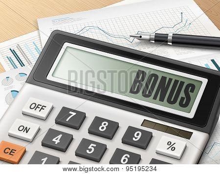 Calculator With The Word Bonus