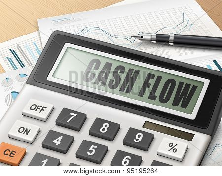 Calculator With The Word Cash Flow