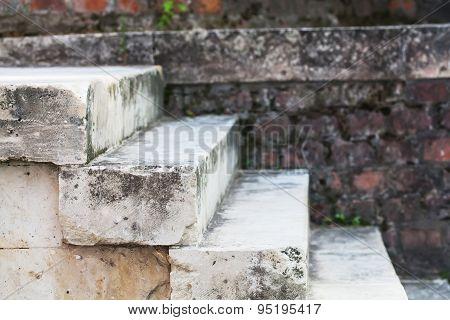 Aged Grey Stone Stairways