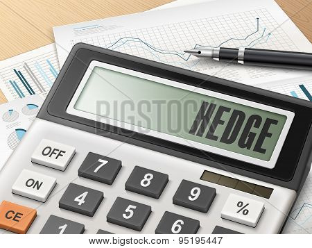 Calculator With The Word Hedge