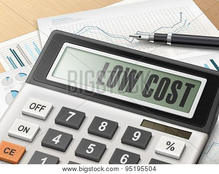 Calculator With The Word Low Cost